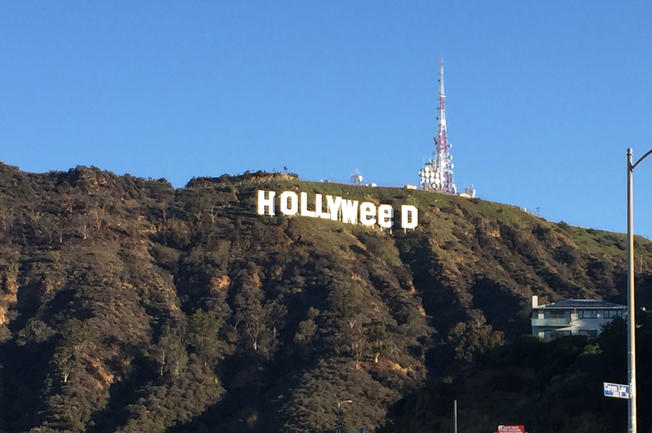 Hollywood Sign Reads 'Hollyweed' For Second Time in 40 Years