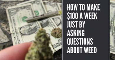 How to Make $100 a Week Just By Asking Questions About Weed